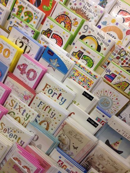 Birthday cards at Memory Lane