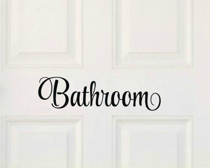 14 best bathroom ideas images on pinterest | vinyl wall decals