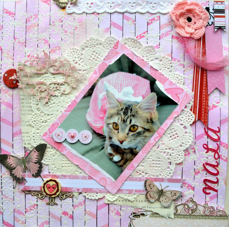 Scrap Around The World project, NALA, with Bo Bunny and Wycinanka http://bellaideascrapology.blogspot.ca/2014/03/scrap-around-world-project-nala-with-bo.html