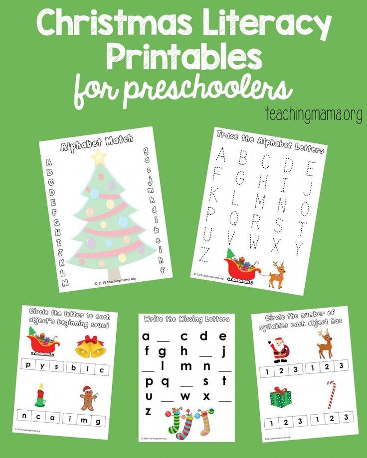Christmas Abc Worksheets For Kindergarten