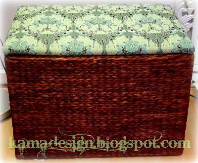 Easy upholstering of ottoman