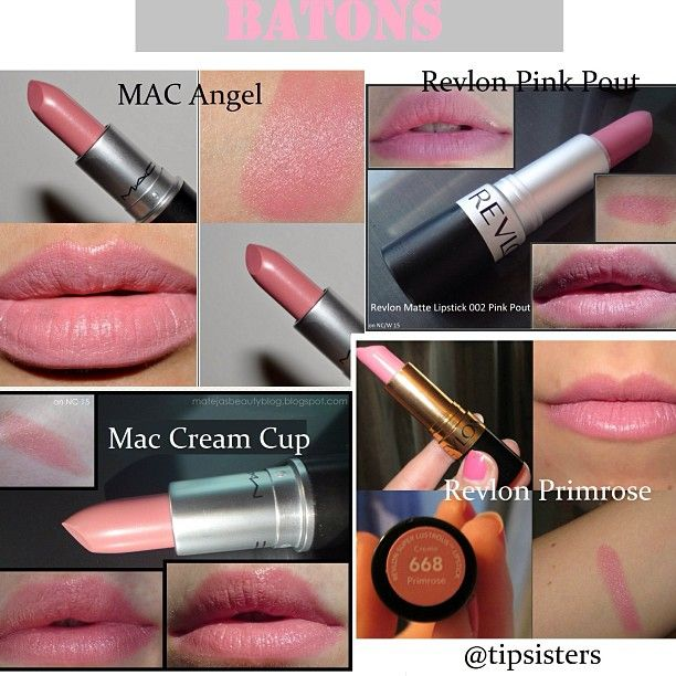 MAC, swatches, Creme Cup, Angel, Snob