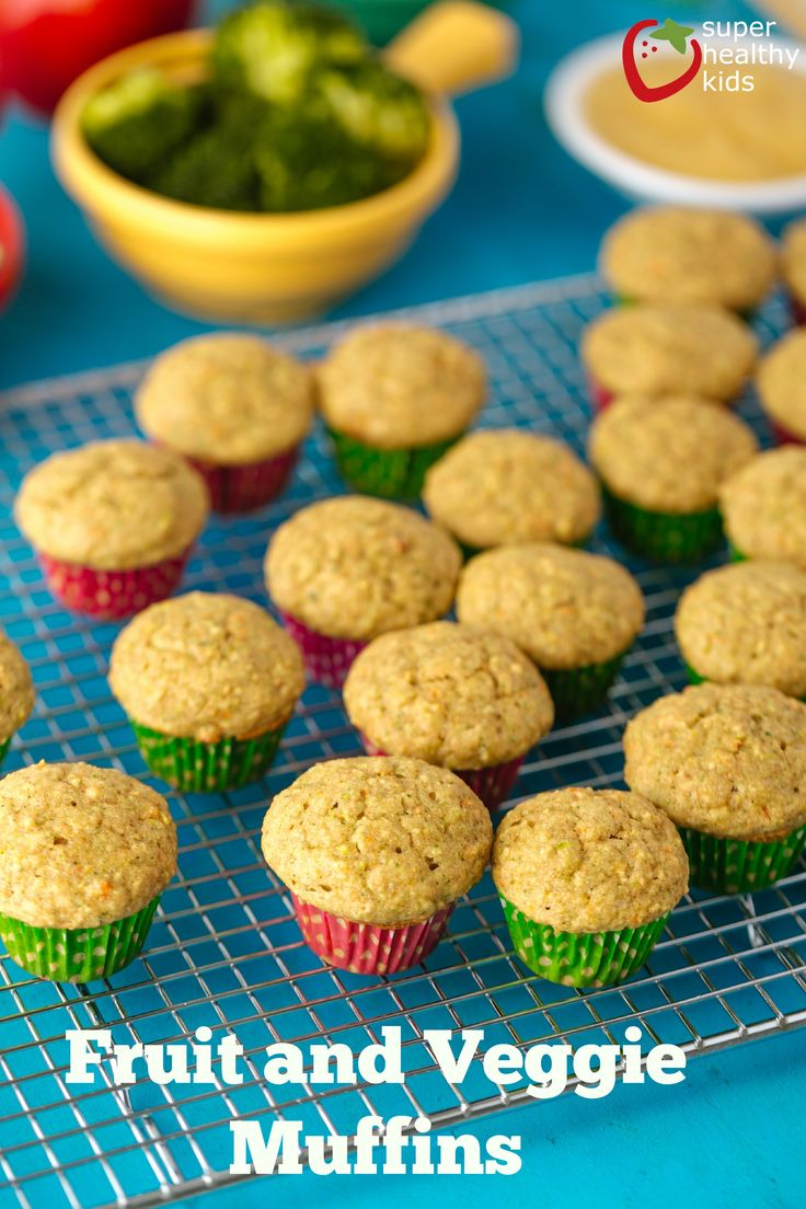 These fruit and veggie muffins are perfect for picky eaters. They taste amazing and your kids are sure to eat these.