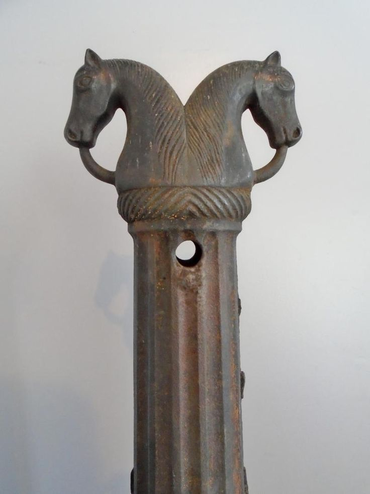 Rare Double Head Horse Hitching Post