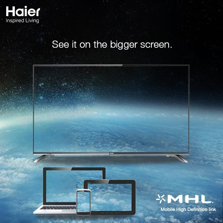 See everything from your smartphone or other portable devices on the bigger LED screen, with the help of MHL (Mobile High-Definition Link) interface that allows you to connect Smart Phones & other portable devices to the LED TV.