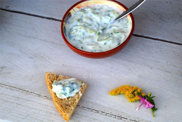Griekse Tzatziki met geitenyoghurt
