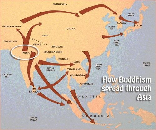Map of Spread of Buddhism