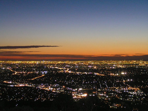 Views of Melbourne at night from Sky High Mt Dandenong.
