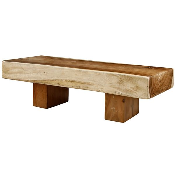 For this coffee table, we kept the natural beauty of suar wood. The furniture is functional and you can use it as a bed bench.