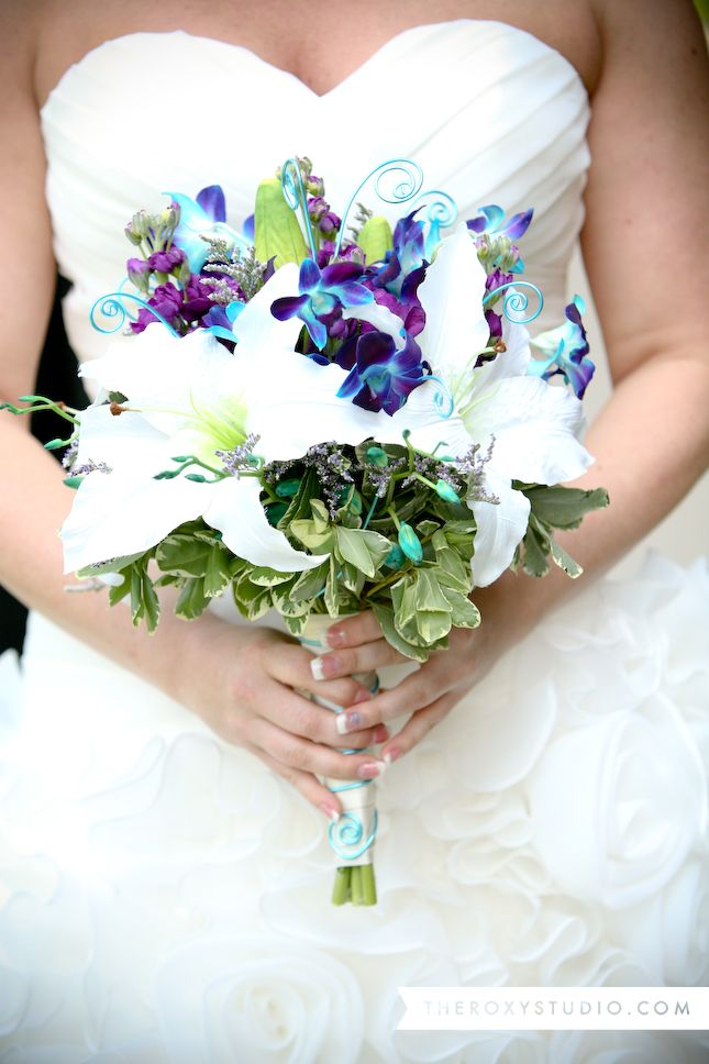 Blue Purple And White Wedding Bouquets Ideas About Lilly On Calla Lilies