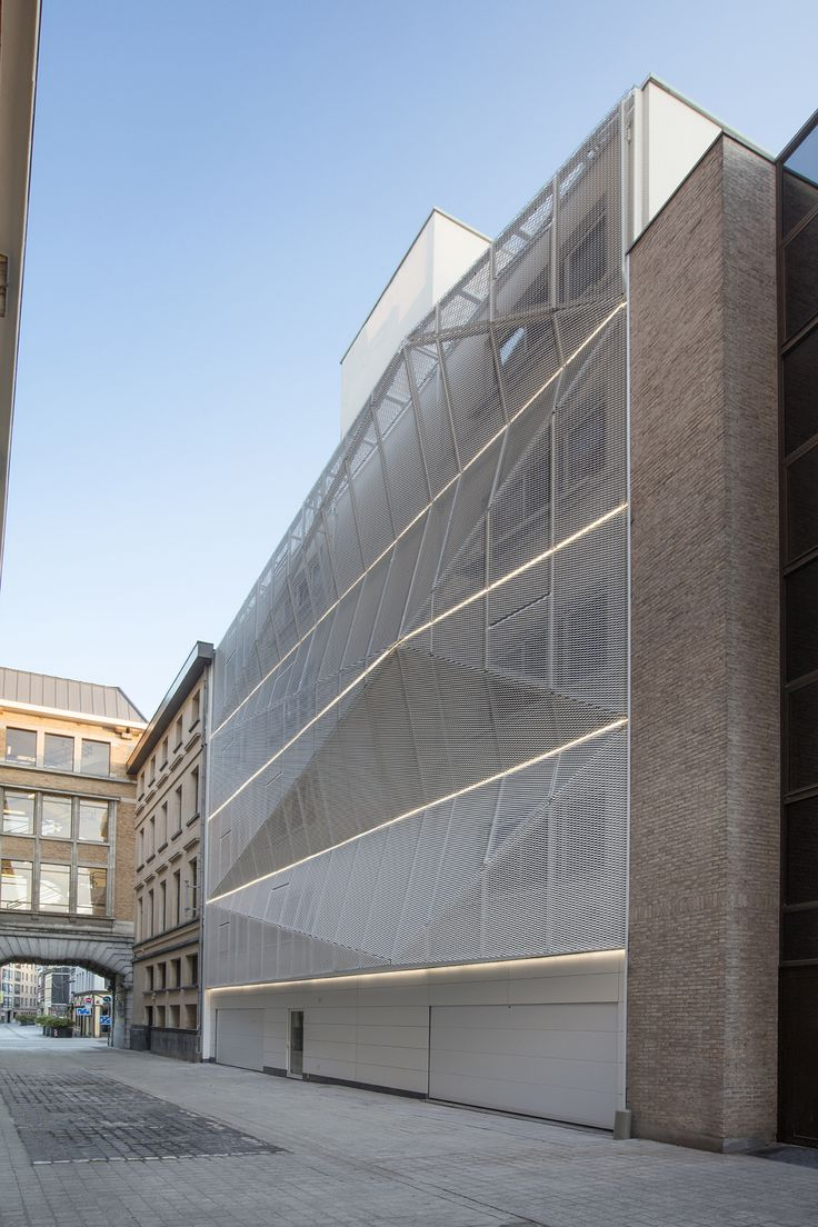 Student housing with an expanded metal mesh facade / created by ensemble - one stop office