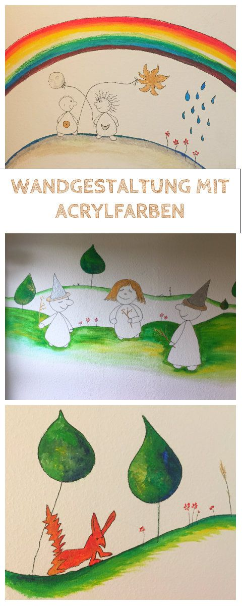 Popular Kinderzimmer Wandgestaltung Wandbemalung f r Kinder
