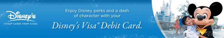 Enjoy Disney perks and a dash of character with your Disney's Visa(R) Debit Card.