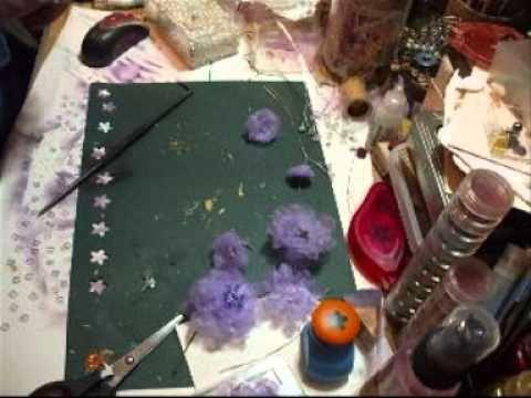 Fiona Jennings as jennings644 - Purple Organza Flower Tutorial - time 8:50, May 5, 2011