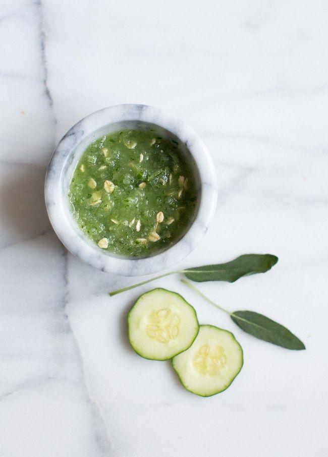 Cucumber Sage DIY Calming Face Mask #NaturesSolutions @burtsbees