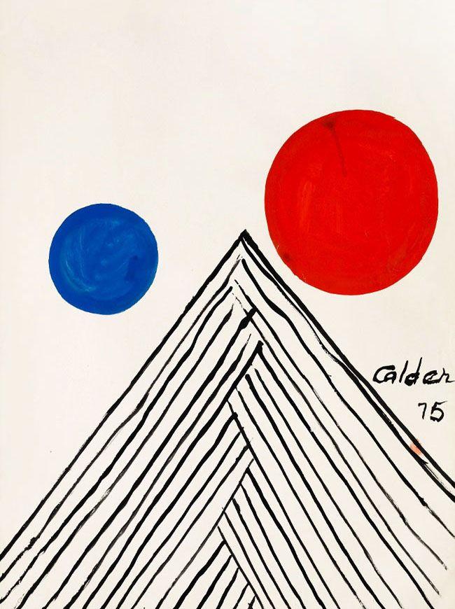Alexander Calder - Uxmal - Gouache - 1975