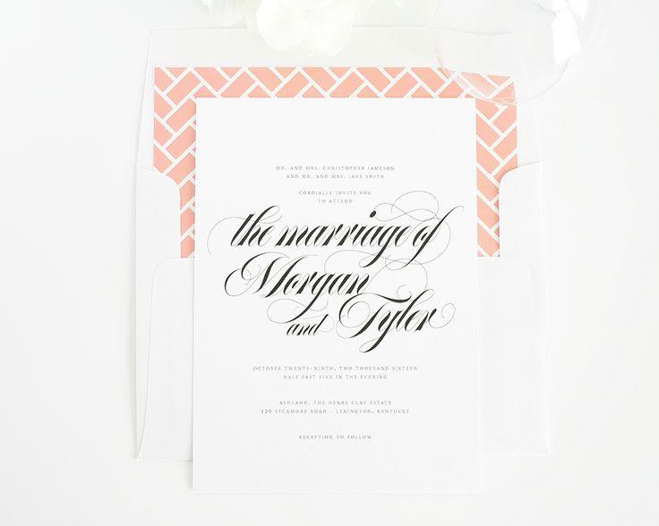 Wedding Invitations with Gorgeous Calligraphy | Wedding Invitations