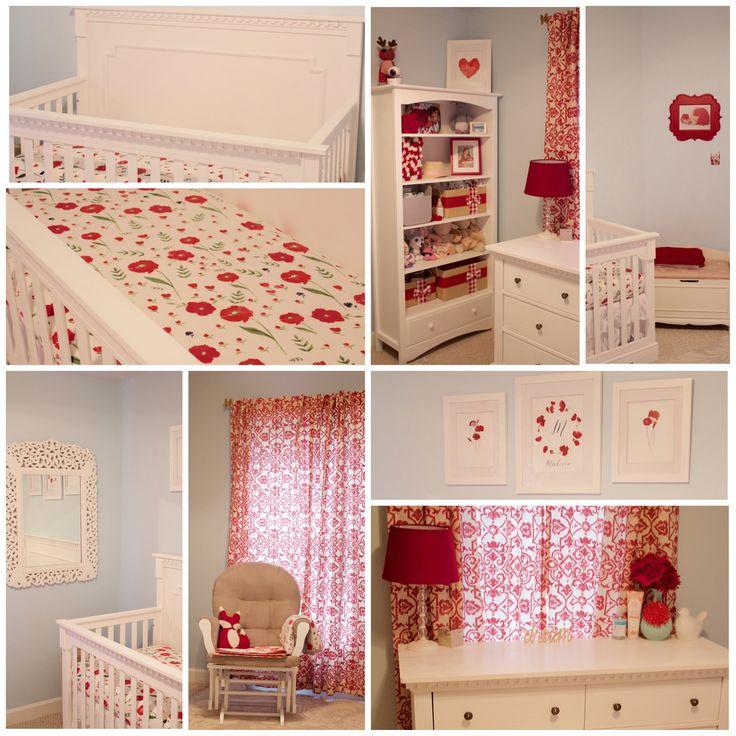 My Baby Girl S Nursery: Poppy Flower Theme Nursery. Floral. Girlie. Baby Girl. Red