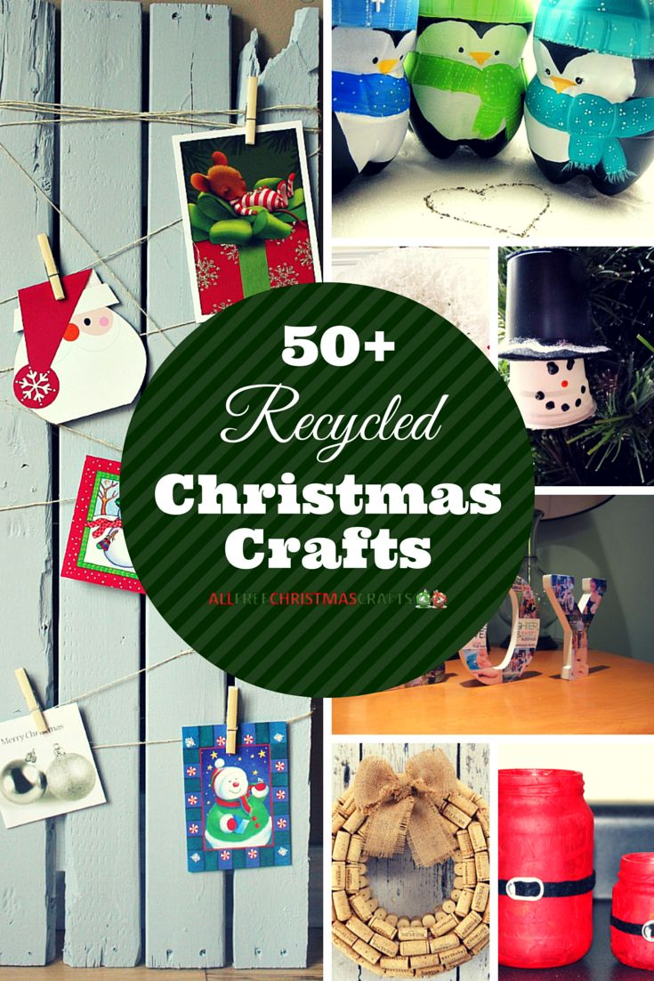 How to make a christmas decor out of recycled materials - 57 Christmas Crafts From Recycled Items