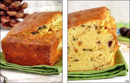 Cake de polenta, amandes & courgettes -