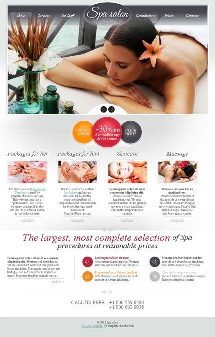 Free Website Template Spa Salon