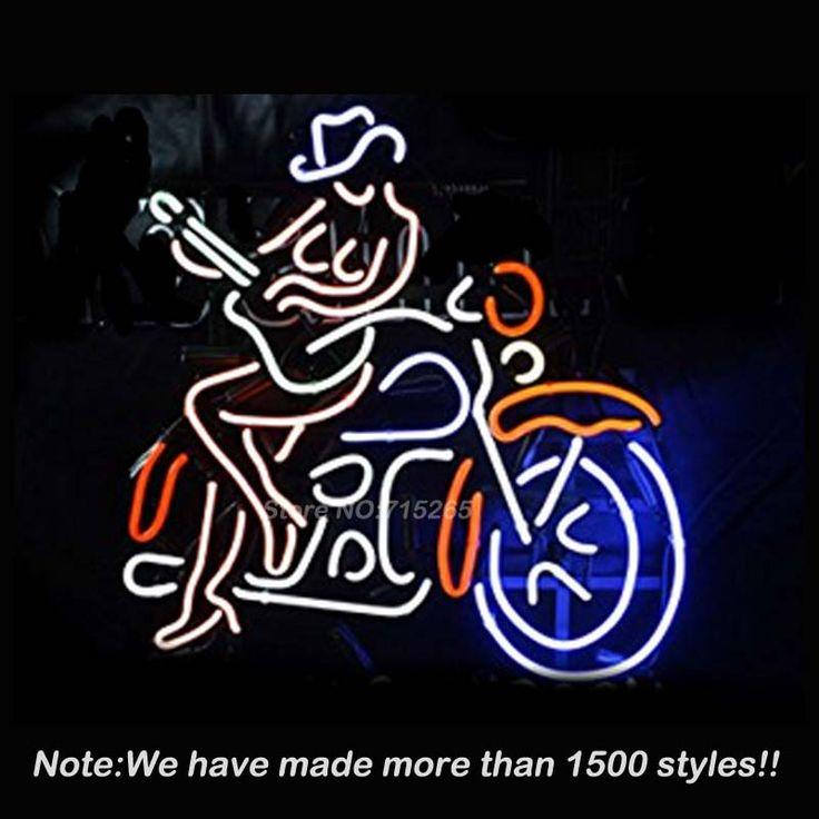 Aliexpress.com: Koop Motorrijder Meisje Neon Light Sign Neon Lampen Store Display Glazen Buis Kwaliteit Gegarandeerd Handcraft Gratis Verzending 19x15 van betrouwbare buis solar leveranciers op Brand Bags and Neon Signs