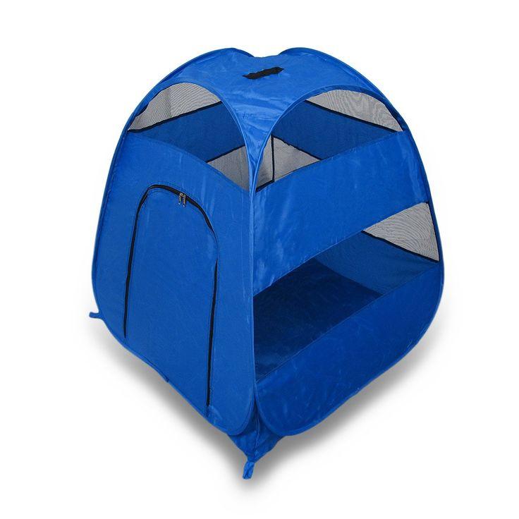 Amazon.com : Portable Pop Up Pet Tent - Perfect For Camping & Travel - Blue (Medium/Large) : Pet Supplies