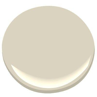 Benjamin Moore Jute, a fabulous creamy light beige, creates a spa like effect in the bathroom, soft gray undertone