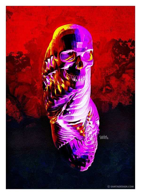 #Skull #Head #Digital #Paint