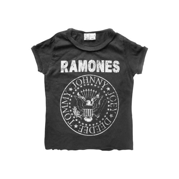 Amplified Kids Ramones Logo T Shirt ($24) ❤ liked on Polyvore featuring tops, t-shirts and shirts
