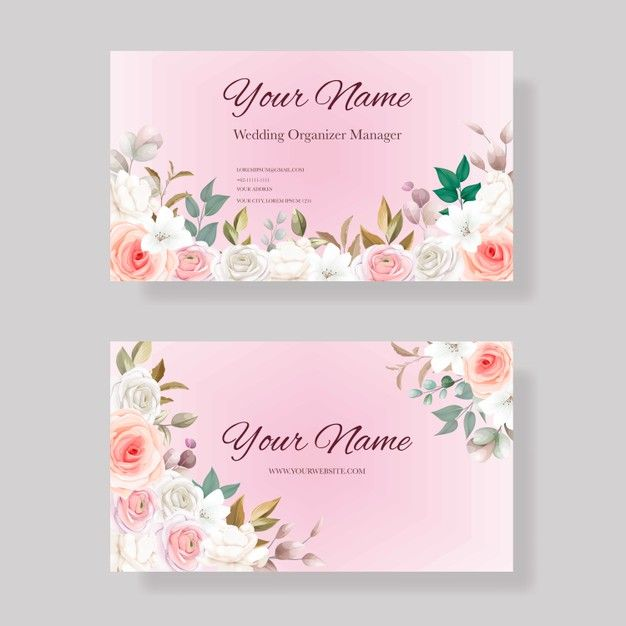 Business Card Template With Beautiful Floral Business Card Template Flower Logo Design Floral Business Cards
