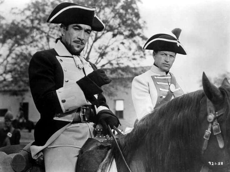 Anthony Quinn als Capt. Gaspar de Portola in Seven Cities of Gold (1955) met in de Hoofdrollen Richard Egan, Anthony Quinn en Michael Rennie.