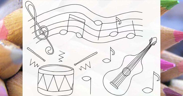Omaľovánky Hudba - Online omaľovánky pre deti a antistresové omaľovánky pre dospelých
