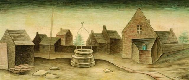 Jan Zrzavý - The well in Locronan (1938) #art #Czechia #painting