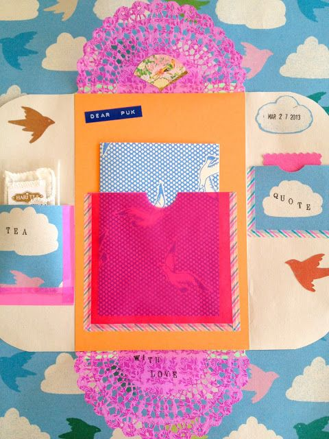 One Bunting Away THIS is snail mail at it's finest