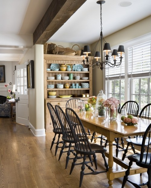 Cameo Kitchens - love the windows, the exposed beam and shaker style chairs