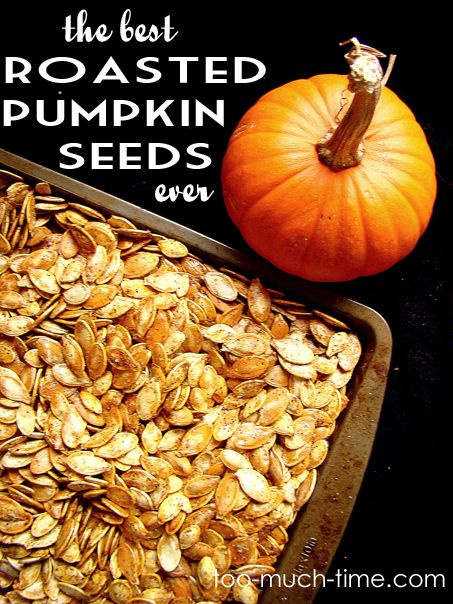 The Best Roasted Pumpkin Seeds Ever- Savory and crunchy | Cooking, Food, and Recipes | Pinterest ...