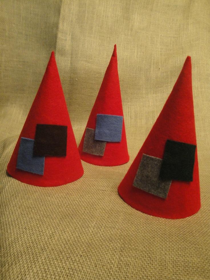 Fairy party: Felt gnome hats