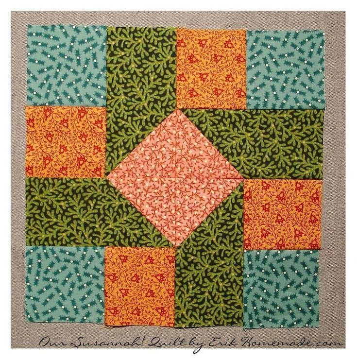 #FreeQuiltingPattern - Susannah! Block by Indie Designer Erik Homemade Design Studio - click the image to learn more and get the free instant download of the pattern