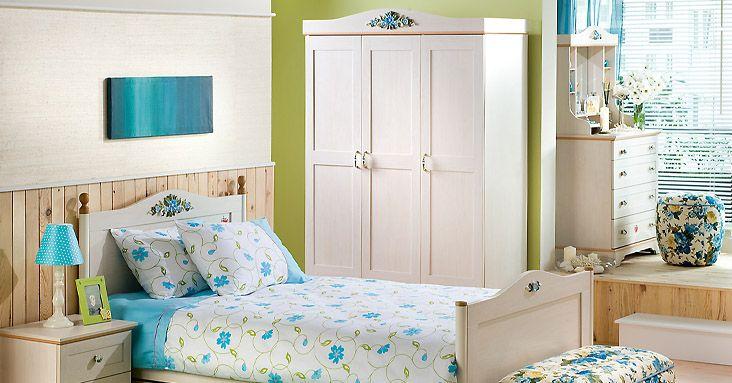 Çilek genç odası takımı , mavi ve beyaz renk tasarımlı. Çocukların bayılacağı son model tasarımlar.