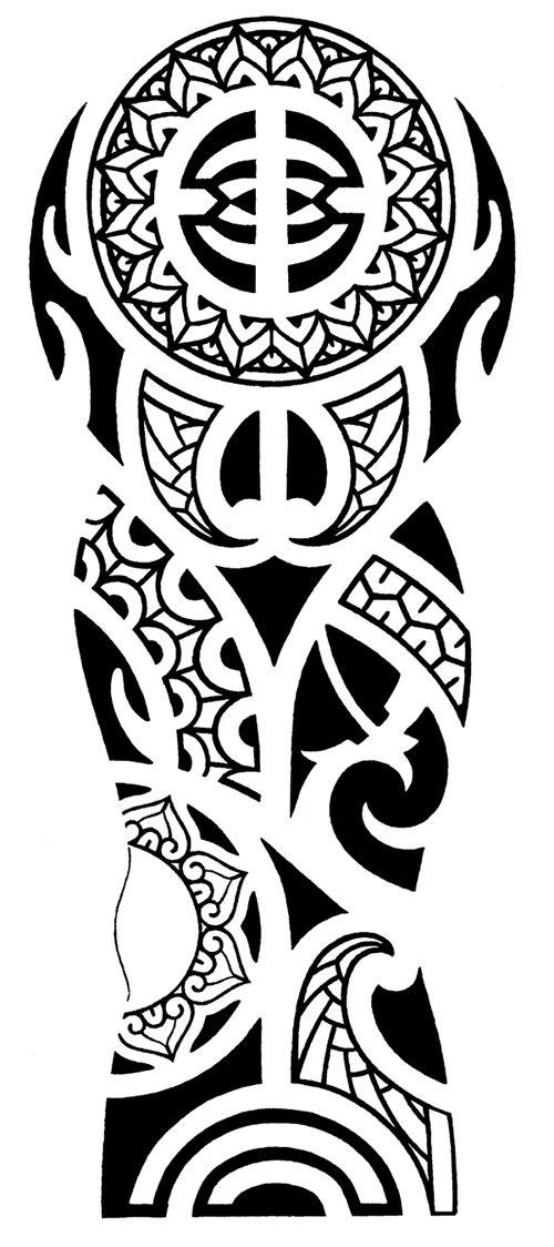 polynesian tribal tattoo for arm