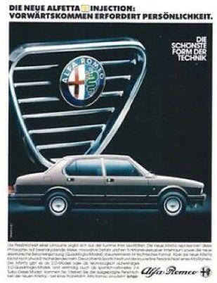 Alfa Romeo Alfetta Quadrifoglio Oro - adv