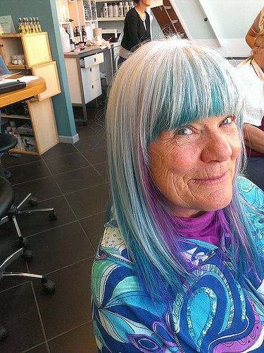 You'll Only Get Cooler as You Age. Several amazing pictures of average people who rock crazy colored hair