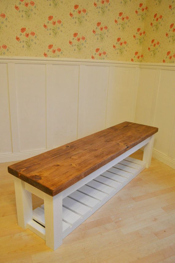 CHUNKY Hall shoe Storage Bench - Shoe racks UK , hallway bench with shoe shelf