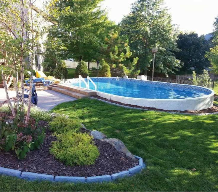 25 Best Ideas About Semi Inground Pools On Pinterest Pool Retaining Wall Small Inground Pool