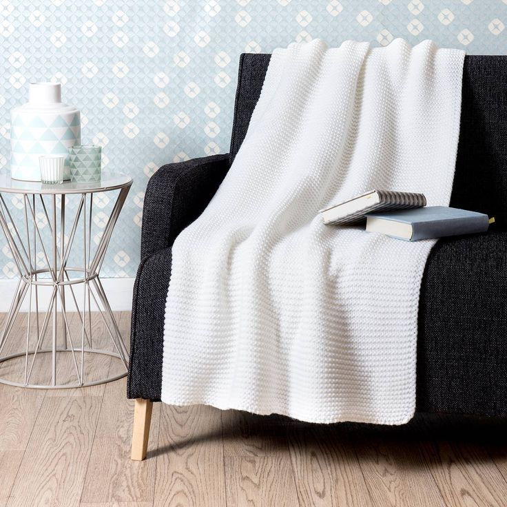 Maison du monde Jeté tricoté écru 125 x 150 cm IRSA 39,99 €