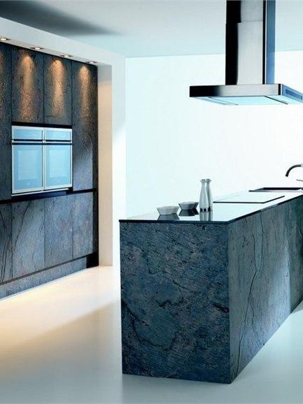 Ultra thin natural #stone wall tiles STONE VENEER by MATERIALINNOVATIVI #kitchen #interiors #grey