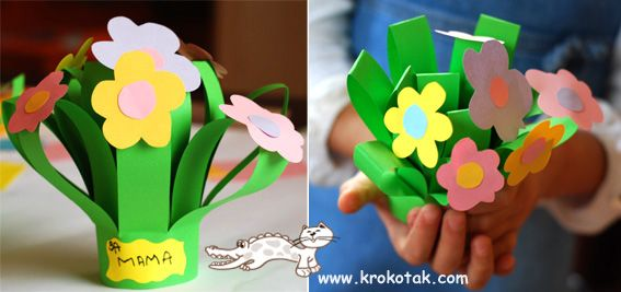 a bouquet for Mom (and Granny!) kids craft for mother's day