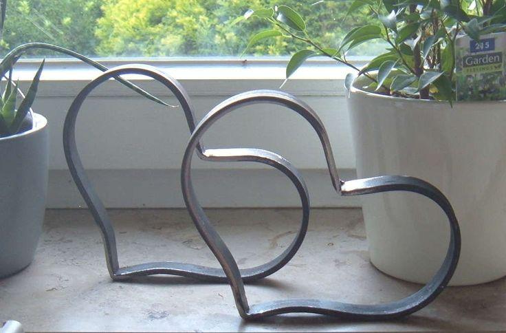 Herz aus Metall in Handarbeit gefertigt Dekoration…
