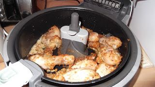 Actifry chicken.